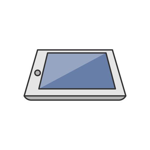 Illustration av en tablett
