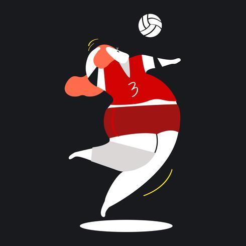 Illustrazione del personaggio di un giocatore di pallavolo