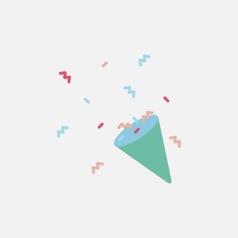 Illustratie van partij popper pictogram