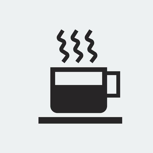 Cup of hot coffee illustration