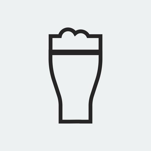 Pint of beer graphic illustration