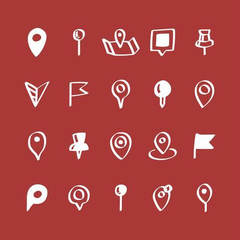 Illustration uppsättning kortpinnar ikoner
