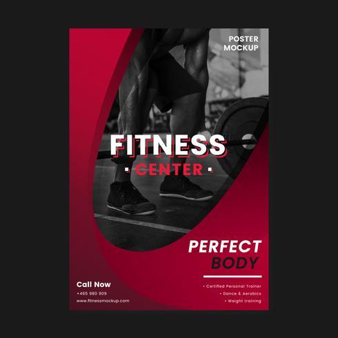 Fitness-reklamaffärs vektor