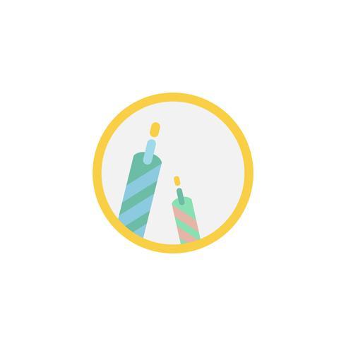 Illustratie van birthday kaarsen pictogram