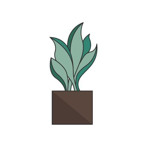 Illustration of a plant in a pot