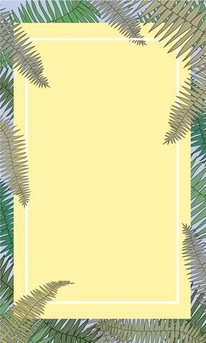 Ilustração, de, natureza, planta, quadro, com, desenho, espaço