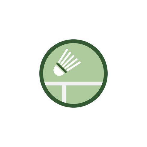 Illustration av shuttlecock-ikon