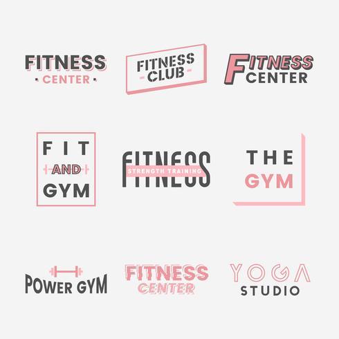 Conjunto de vetores de logotipo do clube de fitness