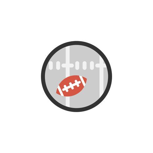 Illustration der Ikone des amerikanischen Fußballs