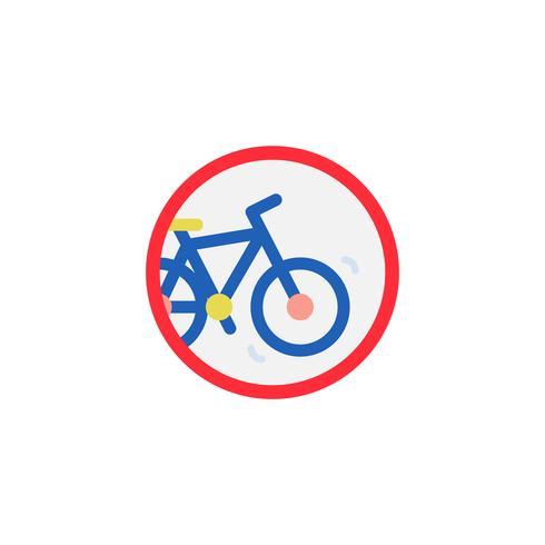 Icono de bicicleta ilustración