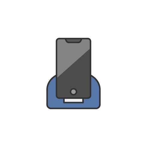 Illustration av en telefon som debiteras