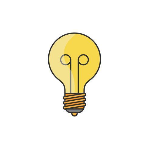 Illustration av en glödlampa