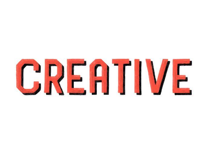 Estilo manuscrito de tipografía creativa.