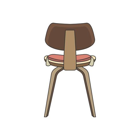 Illustration på baksidan av en stol