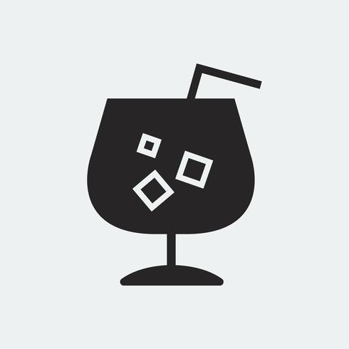 Auffrischungskaltes Getränk mit einer Strohillustration