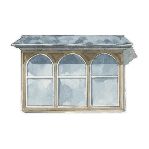 Abbildung der Fensterwasserfarbart