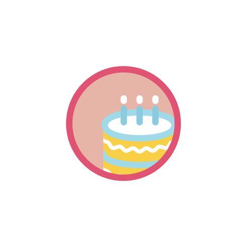 Illustration av födelsedagstårta ikon