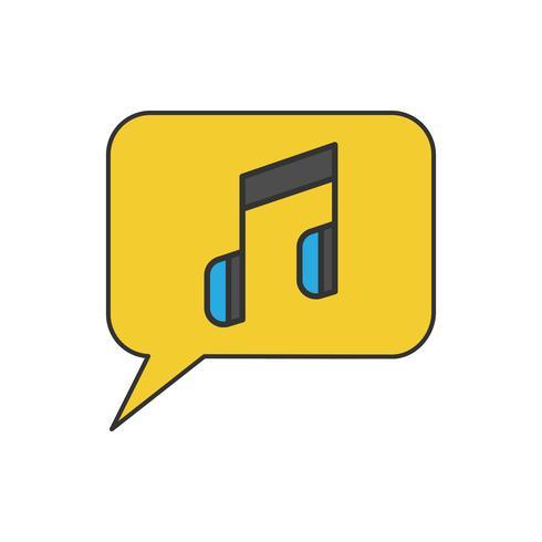 Talbubbla och musikalisk noter musik diskussion koncept