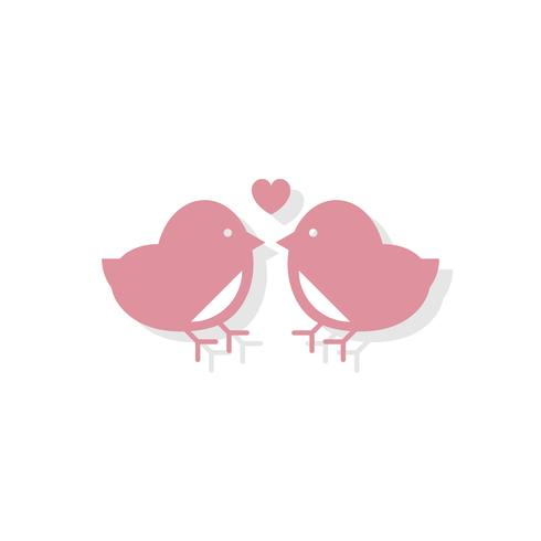 Liebe Vögel Valentinstag Symbol