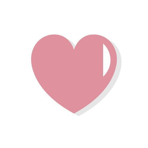 Hjärtform Valentinsdag ikon