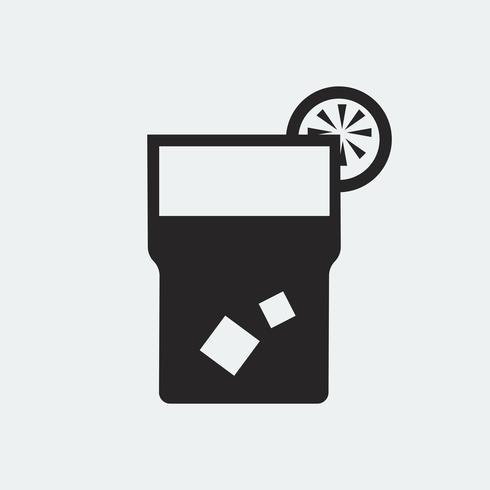 Vaso de ilustración de icono de limonada