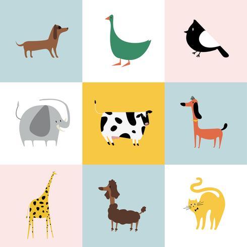 Collage aus verschiedenen Tierarten