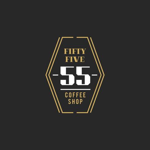 Illustration av kafé stämpel banner