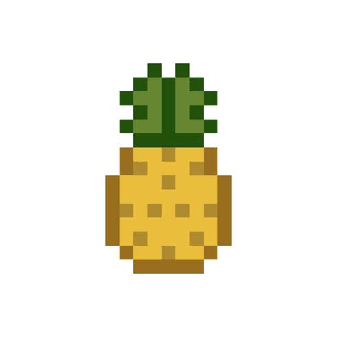 A Pineapple Pixelated Fruit Graphic Download Free Vectors