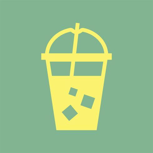 Koud drankje in een plastic beker illustratie