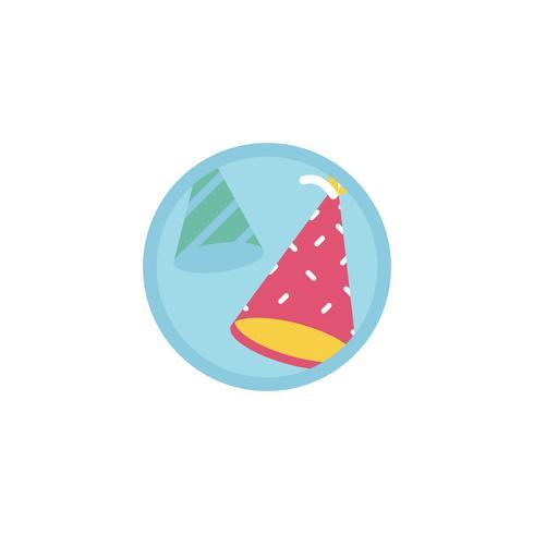 Illustration av party hattar ikon