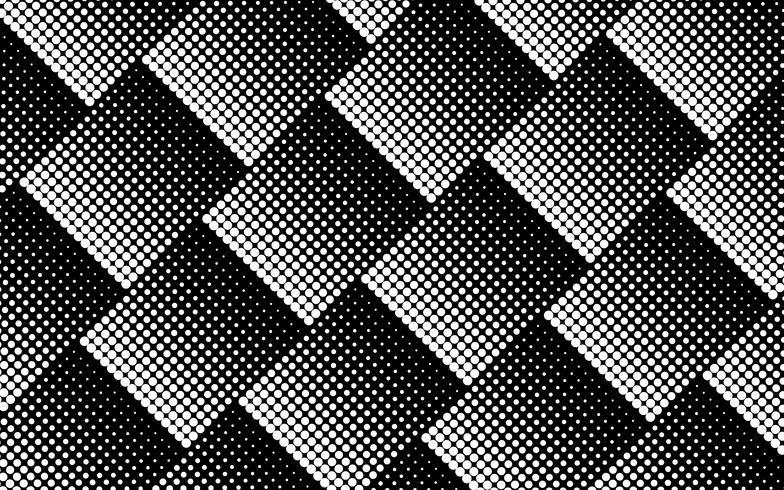 Halbton-Design in Schwarz und Weiß