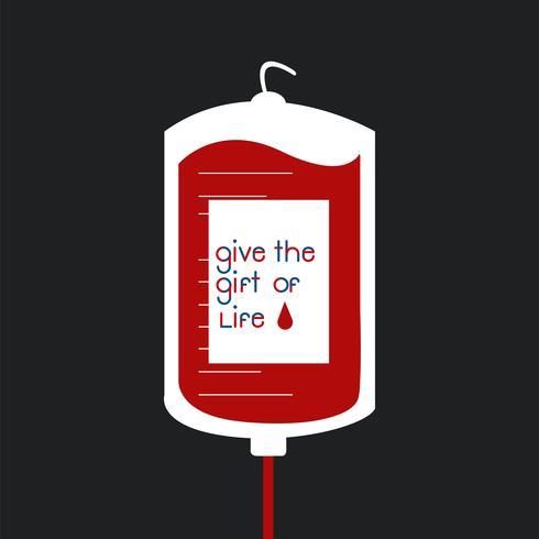 Illustrazione di vettore della borsa di donazione di sangue
