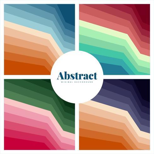 Ensemble de milieux d'impression abstraites colorées