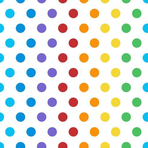 Naadloze kleurrijke polka dot patroon vector