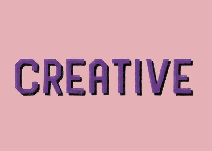 Handskriven stil av kreativ typografi