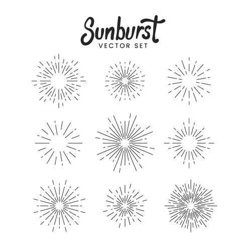 Sunburst design set