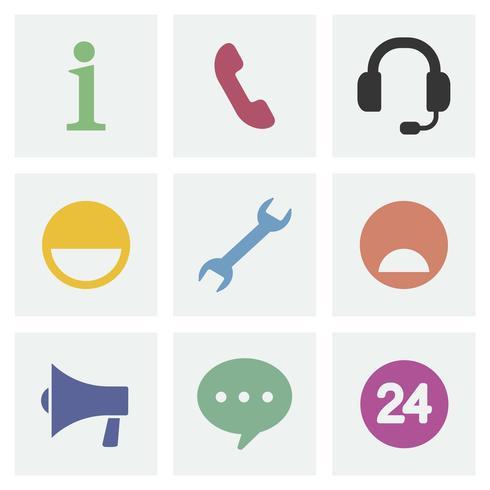 Kommunikation begrepp ikoner illustration design