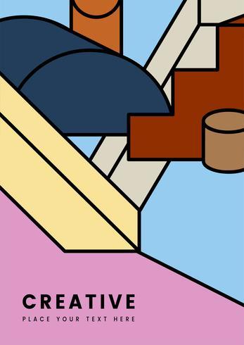Création graphique de géométrie colorée créative
