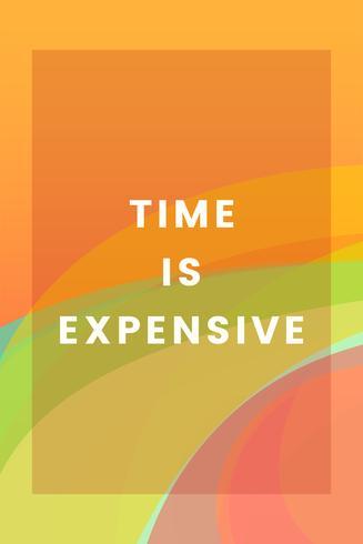 Tiden är dyr färgstark grafisk design