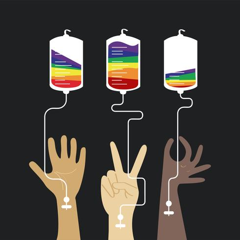 Bloddonation koncept vektor illustration