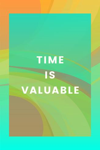 Time is valuable colorful graphic design