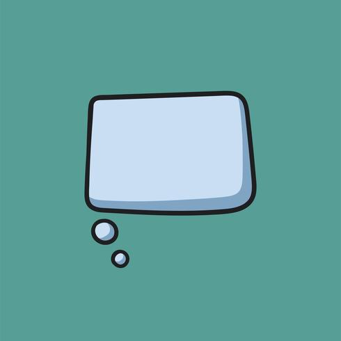 Blank grafisk ikon för talbubbla