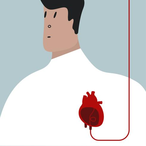 Colorful blood transfusion vector illustration