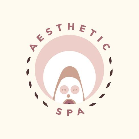 Aesthetic spa and facial care icon