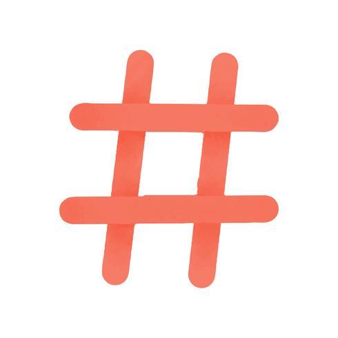 Hashtag sociala medier ikon vektor