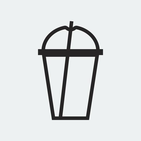 Ilustración plástica vacía del icono de la taza