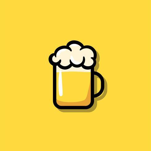 Ein Glas der Bierikonenillustration