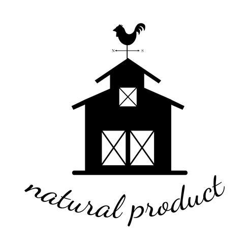 Producto natural ilustración logotipo de la agricultura