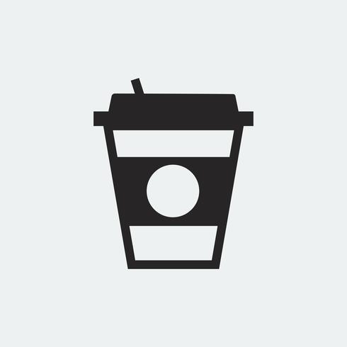 De meeneem grafische illustratie van de koffiemok