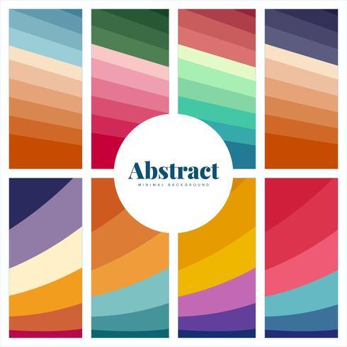 Set med färgglada abstrakta tryck bakgrunder